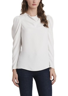Vince Camuto Long Sleeve Puff Shoulder Blouse