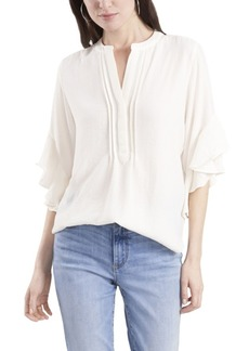 Vince Camuto Women's Ruffle Sleeve Henley Blouse