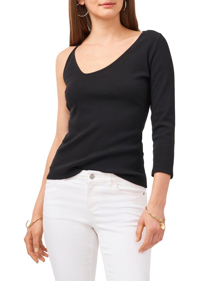 Women's Vince Camuto Asymmetrical Rib Stretch Cotton Top