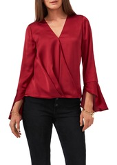 Women's Vince Camuto Bell Sleeve Satin Blouse