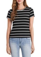 Women's Vince Camuto Cap Sleeve Stripe T-Shirt