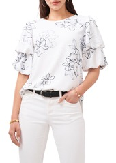 Women's Vince Camuto Floral Beauty Double Puff Sleeve Blouse
