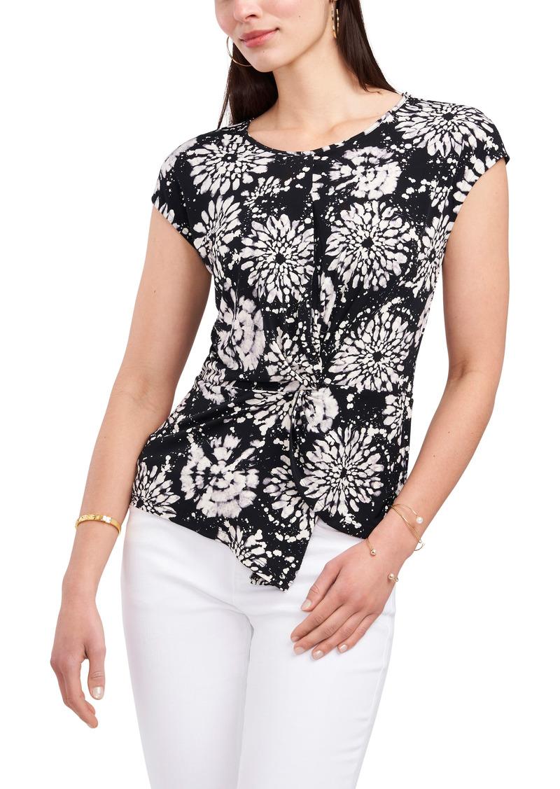 Women's Vince Camuto Floral Twist Front Top