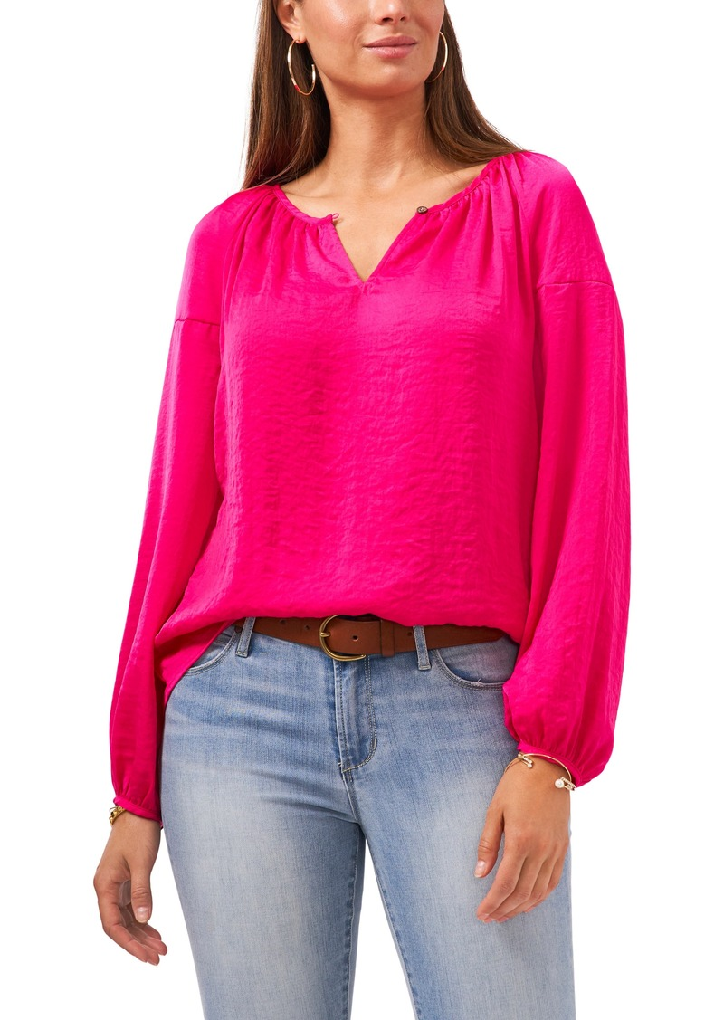 Women's Vince Camuto Hammered Satin Blouse