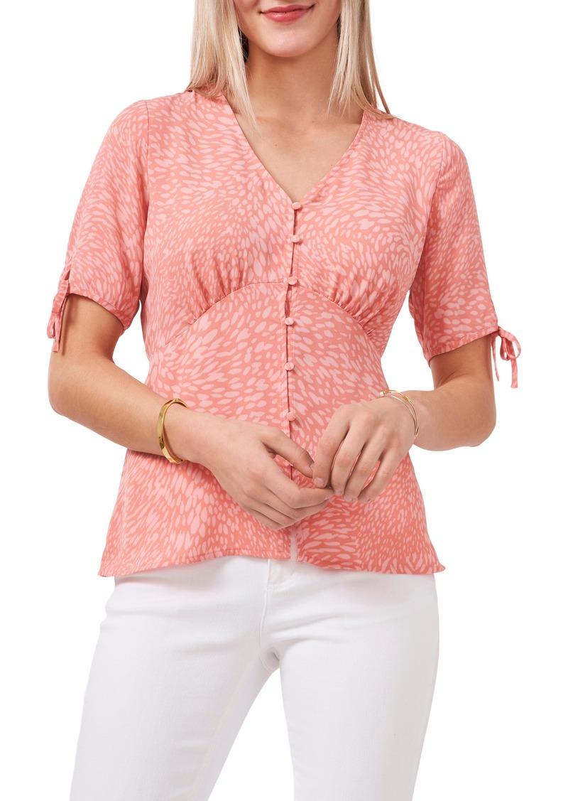 Women's Vince Camuto Print Tie Sleeve Blouse