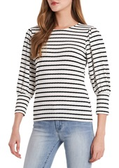 Women's Vince Camuto Stripe Puff Sleeve Knit Top