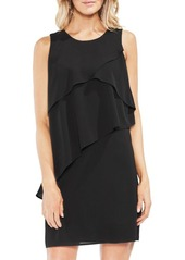 Vince Camuto Zen Bloom Asymmetrical Ruffle Dress