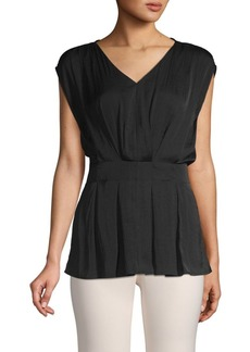 Vince Camuto Zen Bloom Pleated Top