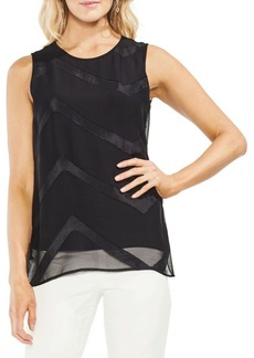 Vince Camuto Zen Bloom Sheer Blouse