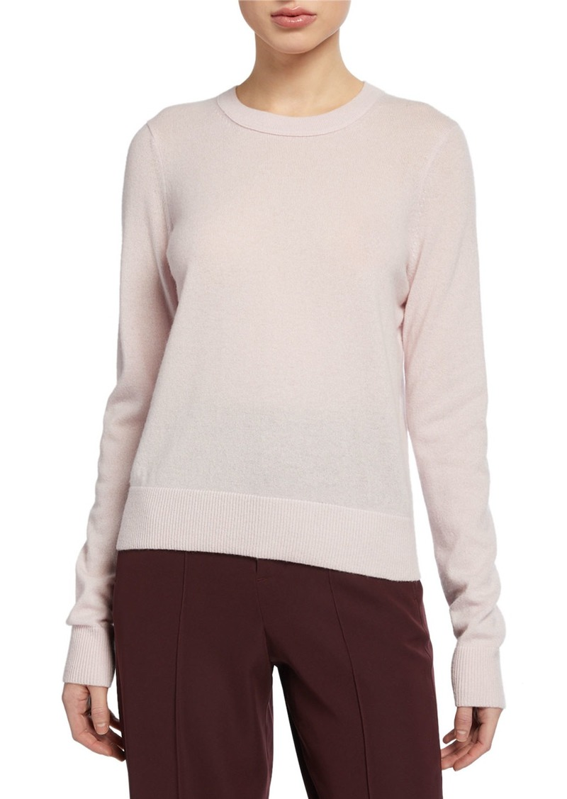 Vince Cashmere Crewneck Long-Sleeve Top
