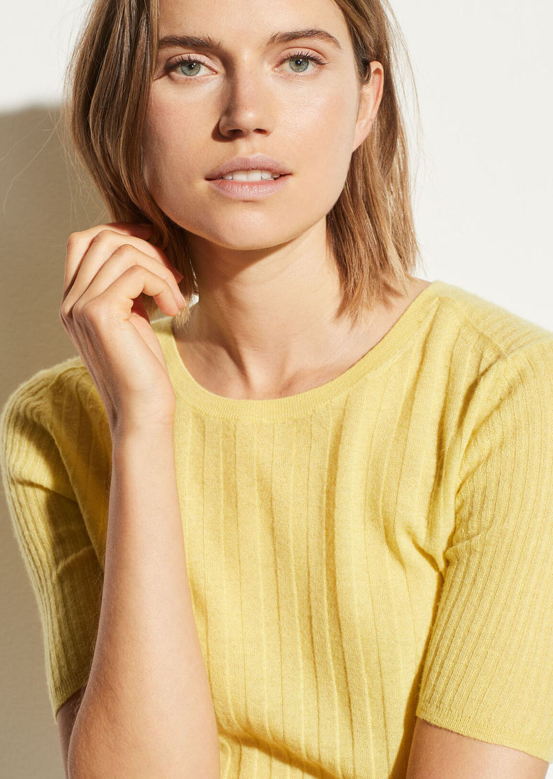 Vince Cashmere Elbow Sleeve Pullover