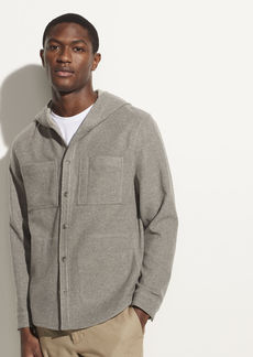 Vince Cashmere Hooded Shirt Jacket