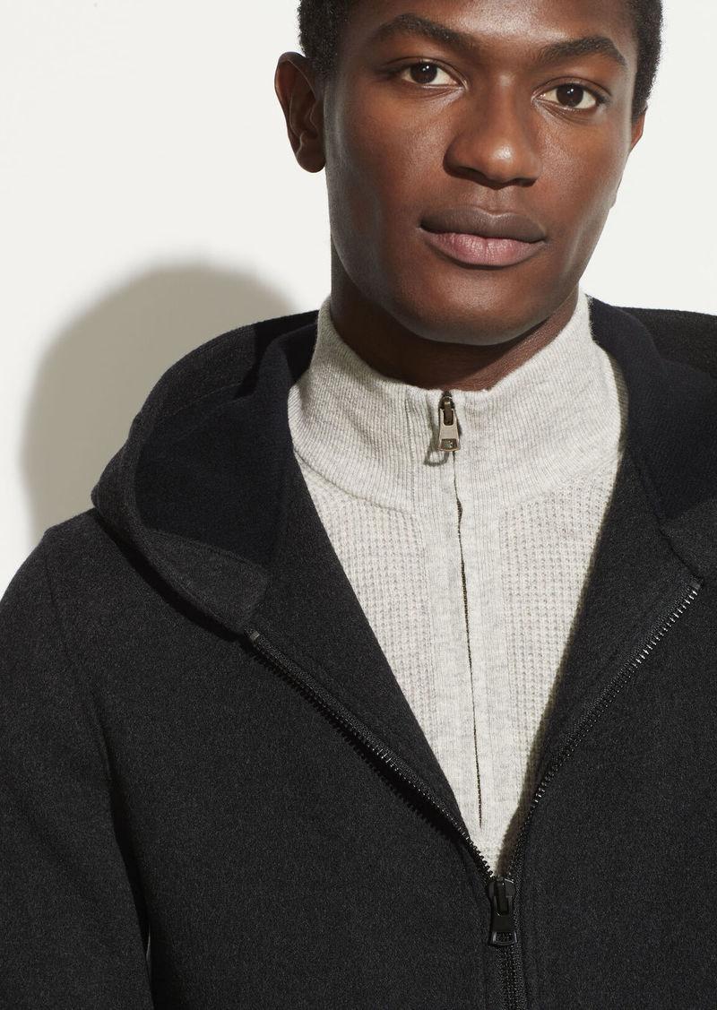Vince Cashmere Hooded Zip Jacket