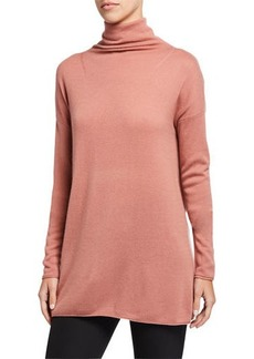 Vince Cashmere Long Turtleneck Sweater