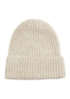 Vince Cashmere Ribbed Beanie Hat