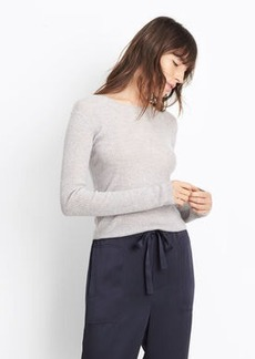Vince Cashmere Ribbed Cropped Crew