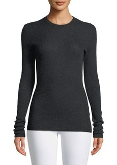 Vince Cashmere Ribbed Long-Sleeve Tee