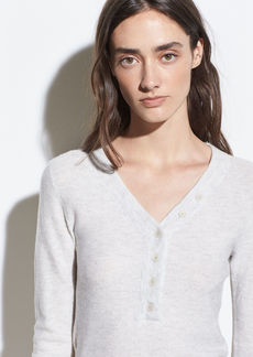 Vince Cashmere-Wool Waffle Henley