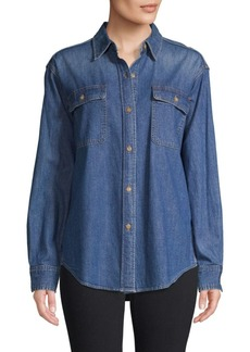 Vince Chambray Long-Sleeve Shirt