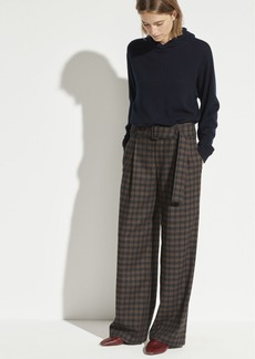 Vince Check Plaid Wool Pant
