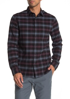 Vince Classic Fit Button Front Plaid Print Woven Shirt