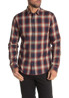 Vince Classic Fit Plaid Print Woven Shirt