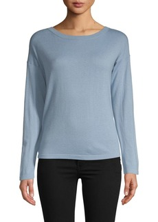 Vince Classic Long-Sleeve Cashmere Sweater