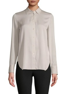 Vince Classic Stretch-Silk Shirt