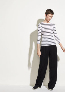 Vince Classic Stripe Elbow Sleeve Crew