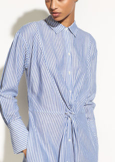Classic Stripe Twist Front Shirtdress