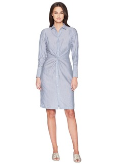 Vince Classic Stripe Twist Front Shirtdress
