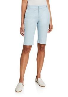 Vince Coin Pocket Stretch Cotton Bermuda Shorts