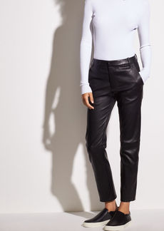 Coin Pocket Stretch-Leather Pant