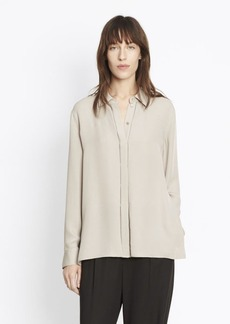 Vince Collared Concealed Placket Shirt
