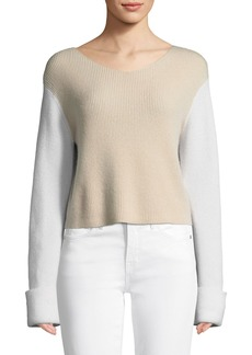 Vince Colorblock Cashmere Pullover Top