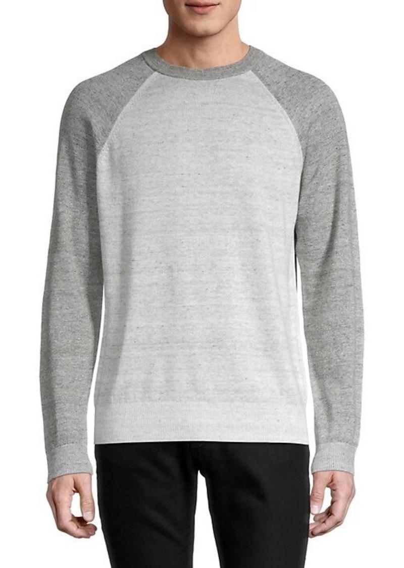 Vince Colorblock Linen & Cotton-Blend Sweater