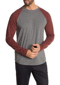 Vince Colorblock Raglan Long Sleeve T-Shirt