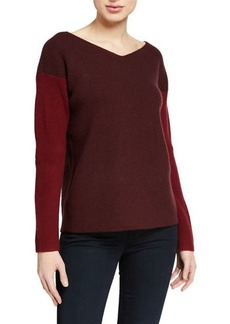 Vince Colorblock V-neck Sweater