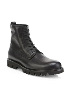 Vince Commander Leather Combat Boots