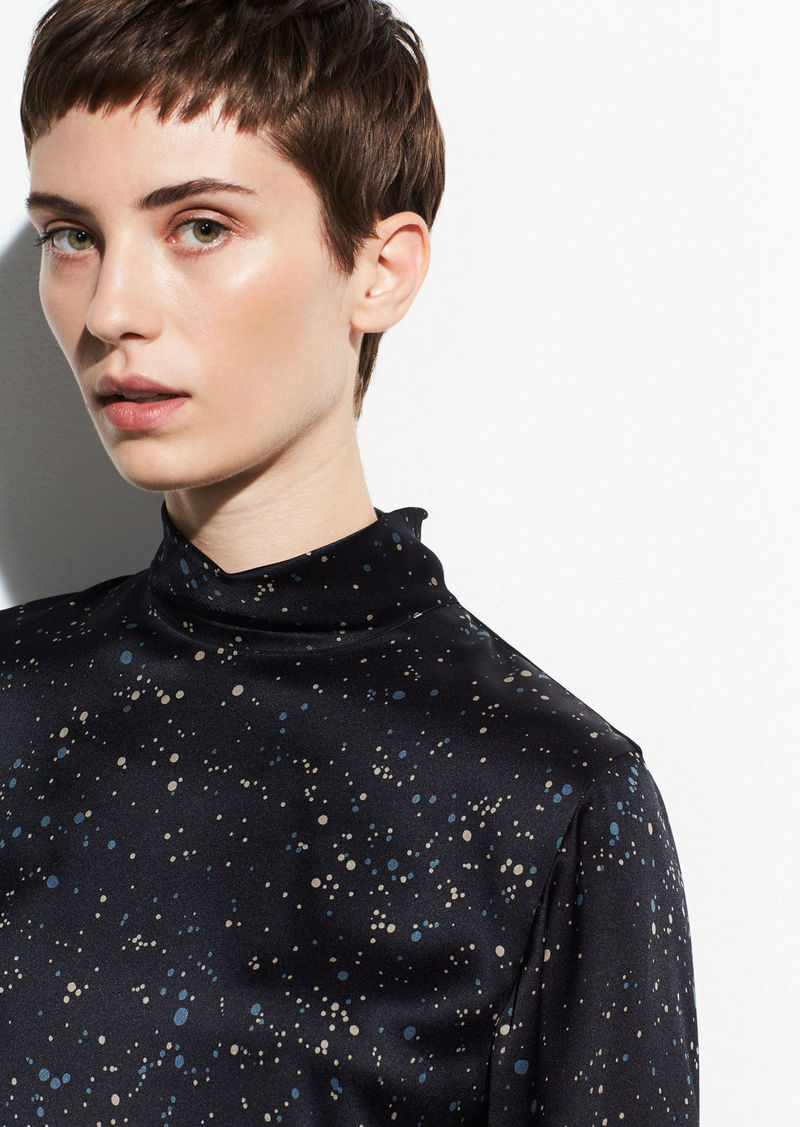 Vince Constellation Print Turtleneck