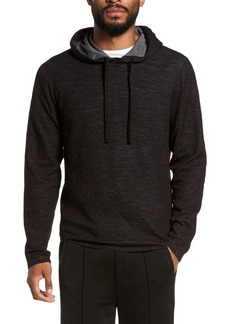 Vince Contrast Double Knit Cotton & Wool Hoodie