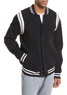 Vince Contrast-Trim Varsity Jacket