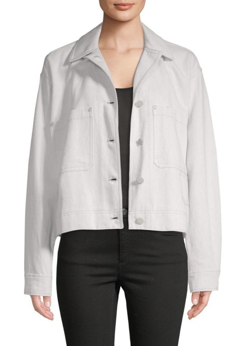 c181c1ae44a6 On Sale today! Vince Cotton   Linen Cropped Utility Jacket