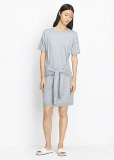 Cotton Knit Tie Sleeve Dress