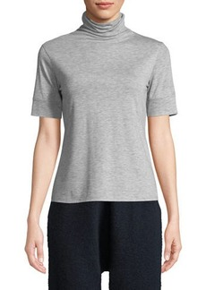 Vince Cowl-Neck Short-Sleeve Top