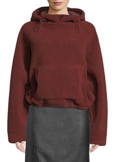 Vince Cozy Drawstring Pullover Hoodie Sweatshirt