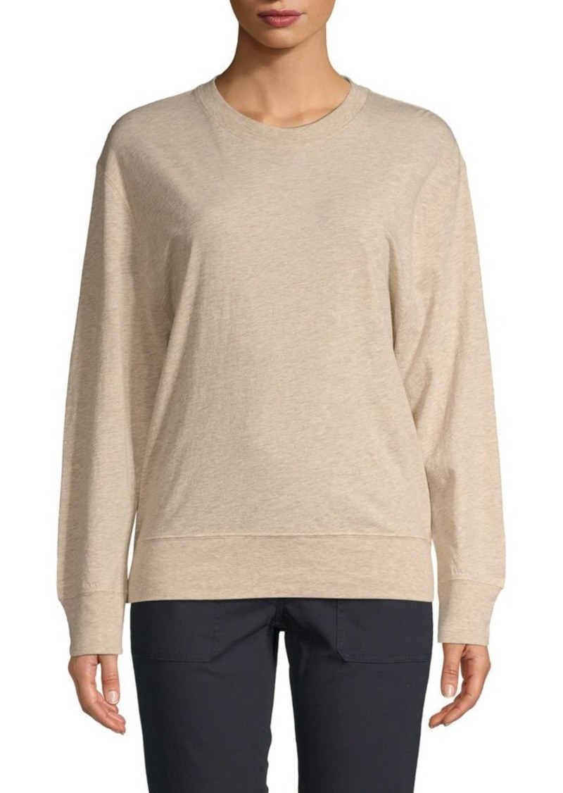 Vince Crewneck Cotton Blend Pullover