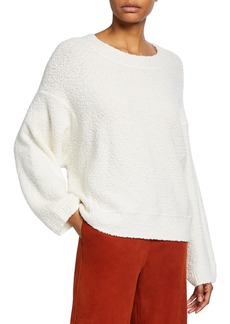 Vince Crewneck Textured Boucle Sweater