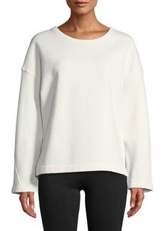 Vince Crewneck Vented Pullover Sweatshirt