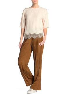 Vince Crinkle Pleat Pull-On Pants